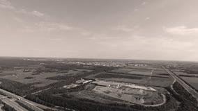 Tyska motorways som ses från över arkivbild