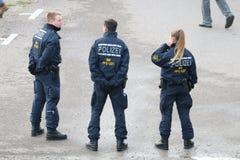 Tyska poliser Royaltyfria Bilder