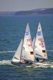 Tyska segelbåtar Arkivbild