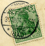 tyska stämplar Royaltyfri Bild