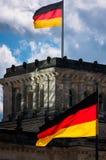 Tysken flags Reichstag Royaltyfri Foto