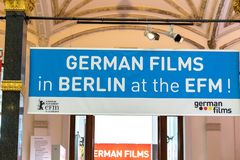 Tyskfilmer i Berlin på EFMEN Royaltyfri Fotografi