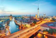 Tyskland Berlin cityscape Royaltyfri Foto