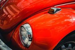 TYSKLAND BOCHUM, MAJ 07, 2016 Retro röd gammal bil för tappning Royaltyfri Bild