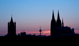 Tyskland Cologne, horisont Royaltyfria Bilder