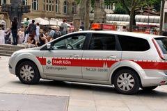 Tyskland Cologne, 03 08 2014 I service Royaltyfria Foton