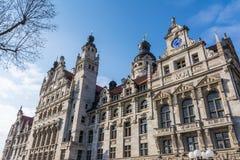 Tyskland E för Leipzig yttre Altes Rathaus rådstadsstyrelsen royaltyfri bild
