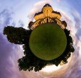 Tyskland för behandlig för Stuttgart slottSchloss abstrakt liten planet Arkivfoto