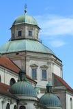 Tyskland för kyrkligt torn Arkivbild