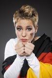 Tyskland för supporter för fotbollsportfan fotografering för bildbyråer
