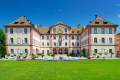Tyskland - Juli 10, 2012: Gammal slott på den Mainau ön Fotografering för Bildbyråer