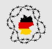 Tyskland med stängda gränser stock illustrationer