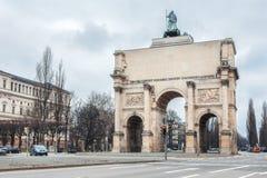 Tyskland Munich - MARS 12: Triumf- båge på mars 12, 2012 in Fotografering för Bildbyråer