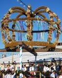 Tyskland Munich, Oktoberfest, traditionella Erntedankkrone royaltyfria foton