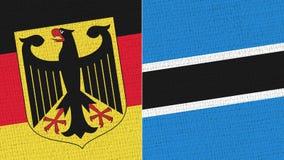 Tyskland och botswansk flagga stock illustrationer