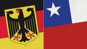 Tyskland och Chile flagga royaltyfri illustrationer