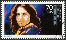 TYSKLAND - 1988: shower James Douglas Jim Morrison (1943-1971), serie vaggar stjärnor royaltyfri bild