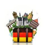 Tyskland tyska gränsmärken, lopp Arkivfoto