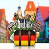 Tyskland tyska gränsmärken, lopp Royaltyfri Fotografi