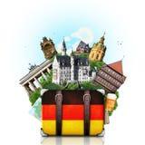 Tyskland tyska gränsmärken, lopp Fotografering för Bildbyråer