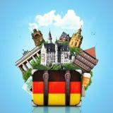 Tyskland tyska gränsmärken, lopp Royaltyfri Foto