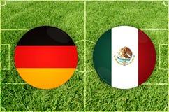 Tyskland vs den Mexico fotbollsmatchen vektor illustrationer
