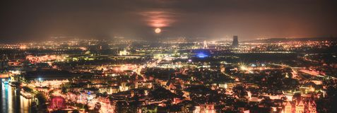 TysklandAndernach by HDR Nikon D610 kamera Royaltyfri Bild