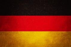 Tysklandflagga, grungetexturbakgrund Royaltyfri Fotografi