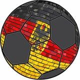 Tysklandflagga med bakgrund för fotbollboll royaltyfri illustrationer