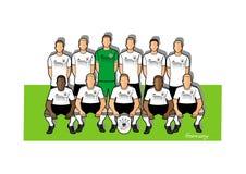Tysklandfotbollslag 2018 Vektor Illustrationer
