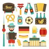 Tysklandloppuppsättning vektor illustrationer