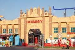 Tysklandpaviljong på den globala byn i Dubai Arkivfoto