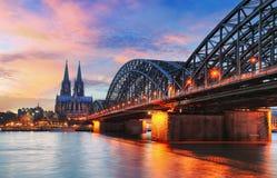 Tysklandstad - Cologne arkivfoton