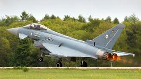 TyskLuftwaffe Eurofighter Typhoon jaktflygplan Royaltyfria Bilder
