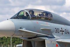 Tyskt flygplan för jaktflygplan för flygvapenLuftwaffe Eurofighter EF-2000 tyfon Arkivbilder