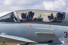 Tyskt flygplan för jaktflygplan för flygvapenLuftwaffe Eurofighter EF-2000 tyfon Royaltyfri Foto