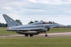 Tyskt flygplan för jaktflygplan för flygvapenLuftwaffe Eurofighter EF-2000 tyfon Royaltyfri Bild