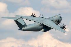 Tyskt flygplan för transport för flygvapenflygbuss A400M arkivbilder