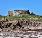 Tyskt försvar för hav för världskrig 2 på Guernsey Arkivfoton