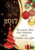 Tyskt hälsningkort för vintersäsong Royaltyfri Bild