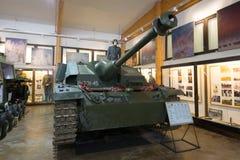 Tyskt självgående anfallvapen Sd Kfz 142 StuG III Ausf G av modellen 1944 i utläggningen av museet av bepansrat vehic Royaltyfri Foto