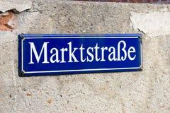 Tyskt tecken Arkivbilder