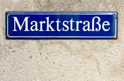 Tyskt tecken Arkivbild