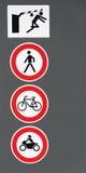 Tyskt trafiktecken av varje dagliv Arkivfoton