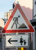 Tyskt trafiktecken av varje dagliv Royaltyfri Bild