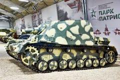 Tyskt tungt anfallvapen Sturmpanzer 43; Grisslybjörn för Sd Kfz 166 Brummbär fotografering för bildbyråer