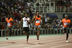 Tyson Asafa alegre Powell M. Rodgers Churandy Martina imagenes de archivo