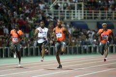 Tyson Asafa homosexuel Powell M. Rodgers Churandy Martina photos libres de droits