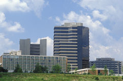 Tyson Corner skyline in Falls Church, Fairfax County, VA Royalty Free Stock Photography