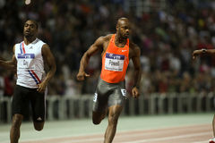 Tyson Gay Asafa Powell M. Rodgers Churandy Martina Royalty Free Stock Image
